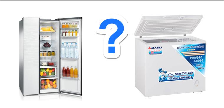 Sự khác nhau giữa tủ đông và tủ lạnh