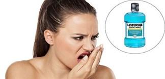 Nước súc miệng Listerine có chữa hôi miệng?