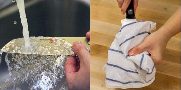 Cách vệ sinh dao đúng cách-1