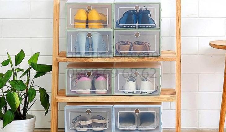 bảo quản giày bằng hộp đựng giày