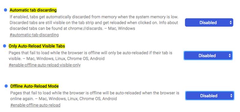 Cách ngăn Chrome tải lại các tab Để tránh bị Đầy bộ nhớ RAM