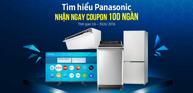 Tìm hiểu Panasonic nhận quà tặng coupon trị giá 100 ngàn