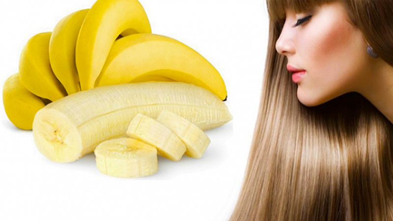 Chuối rất giàu Vitamin C, vitamin B, cùng nhiều dưỡng chất khác giúp kích thích tóc phát triển nhanh và giảm gãy rụng hiệu quả.