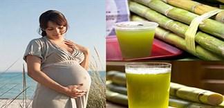 Phụ nữ trước và sau sinh có nên uống nước mía?