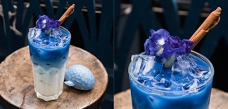Mocktail hoa đậu biếc (hoa bướm) cốt dừa