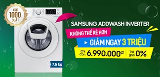 1000 Suất Máy giặt lồng ngang Samsung Inverter 7.5kg giá cận sàn 6.990.000đ