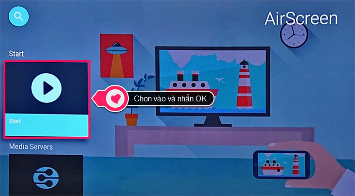 Cách chiếu màn hình iPhone lên Smart tivi Android Sony