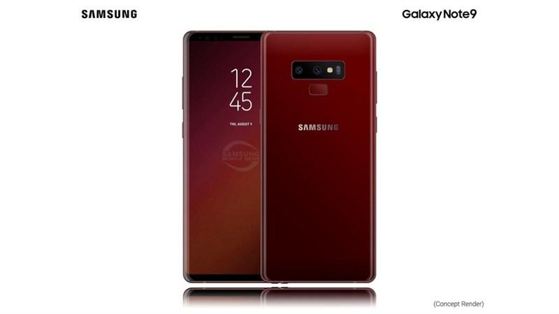 Lộ diện hình ảnh render mới của Samsung Galaxy Note 9 đầy cuốn hút