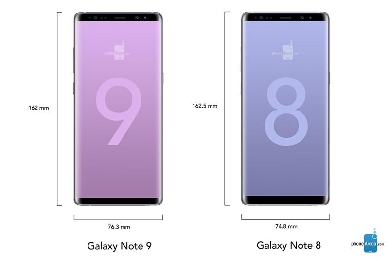 Cùng so sánh kích thước của Galaxy Note 9 và Galaxy Note 8 - ảnh 3