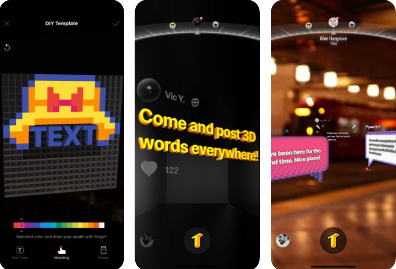 TextHere – AR posts everywhere