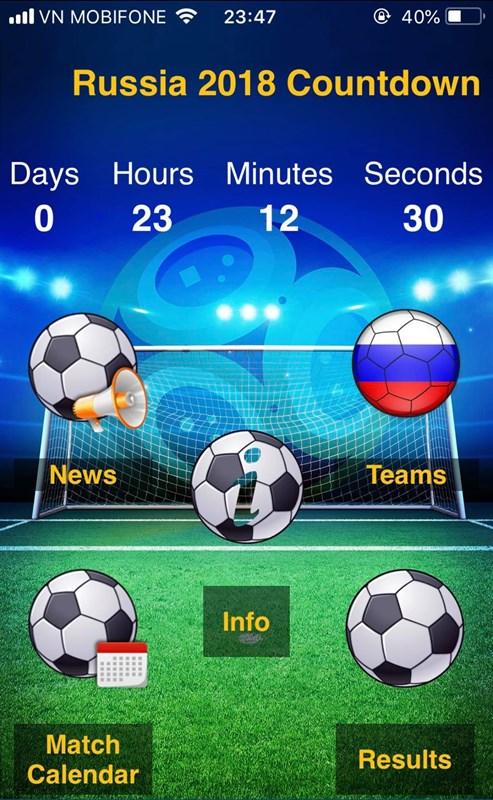 Cách cập nhật nhanh lịch thi Đấu World Cup 2018, kết quả, tỉ số,...