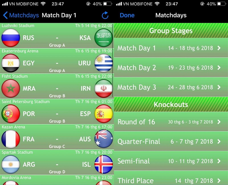 Cách cập nhật nhanh lịch thi đấu World Cup 2018, kết quả, tỉ số,... - ảnh 3