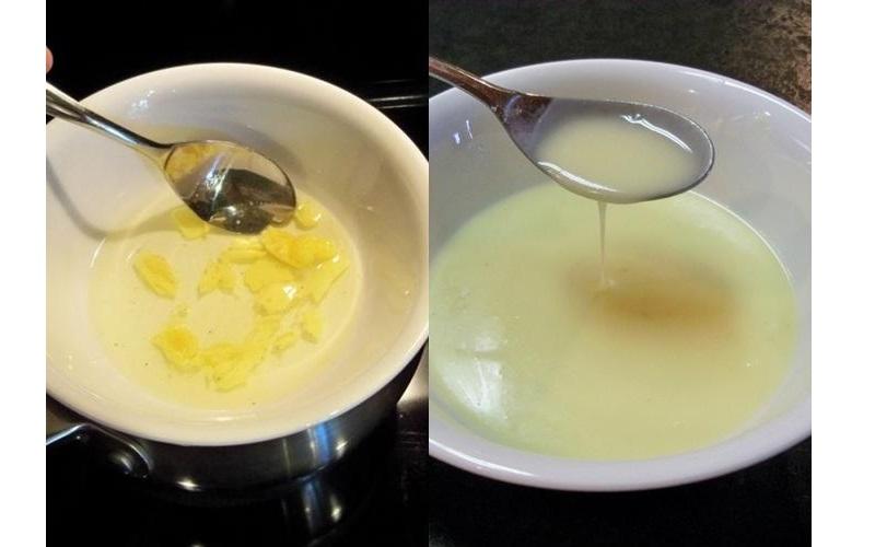 Chưng cách thủy sáp ong và dầu ô liu