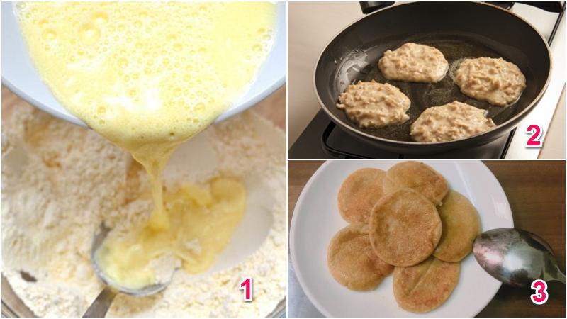 Bánh rán chuối và yến mạch