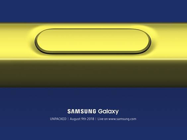 Thiệp mời event ra mắt Galaxy Note 9