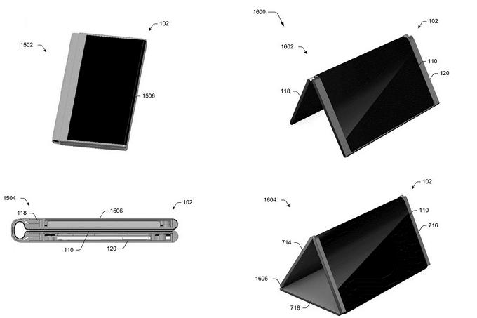 Surface Phone của Microsoft có thể gập lại theo 5 chế độ - 1