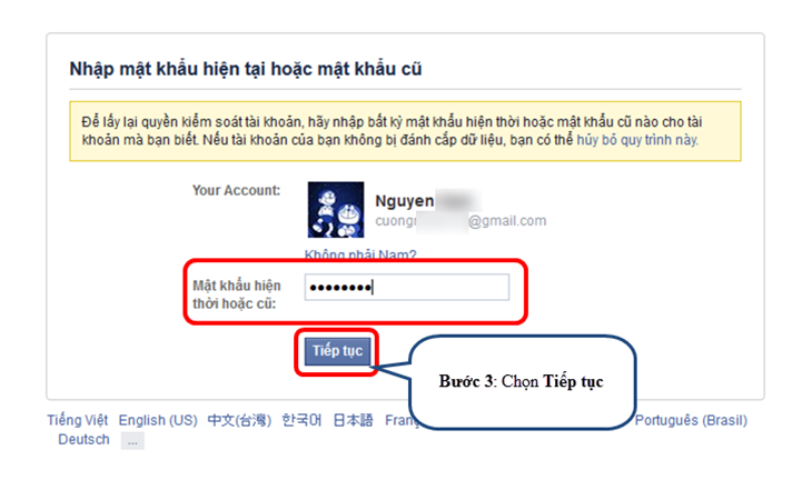 Cách lấy lại tài khoản facebook bị hack trong vòng 30 giây-bước 3