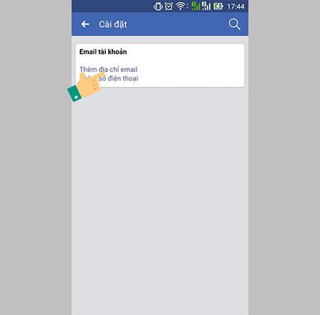 Thêm email liên hệ vào số điện thoại- bước 2- thêm email