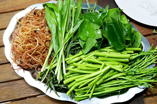 rau ăn lẩu cá kèo lá giang