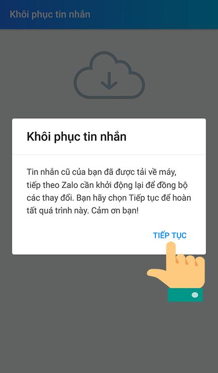 Khôi phục tin nhắn trên Zalo