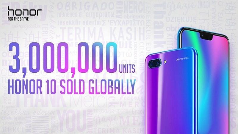 Hơn 3 triệu chiếc Honor 10 được bán sạch giúp thương hiệu tăng trưởng 150% - ảnh 1