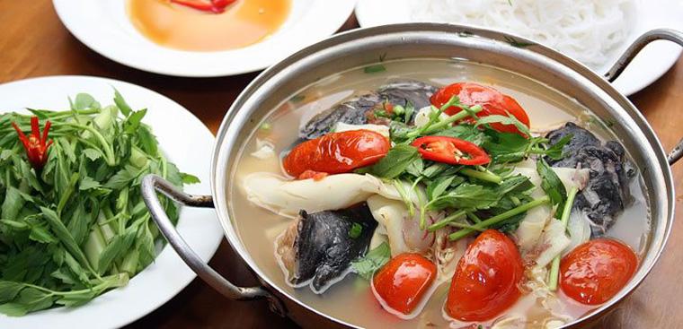 Bước 4 Nấu lẩu cá lăng măng chua Lấu các lăng măng chua