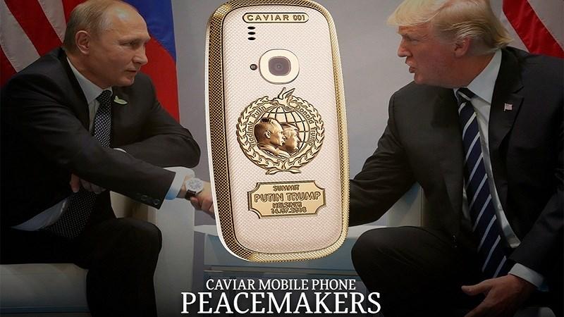 Caviar ra mắt Nokia 3310 phiên bản Trump - Putin làm bằng vàng 24K - ảnh 1