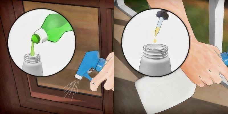 Nước rửa chén và dầu xả Có tác dụng diệt khuẩn, phá hủy lớp biểu bì bên ngoài bảo vệ bọ xít
