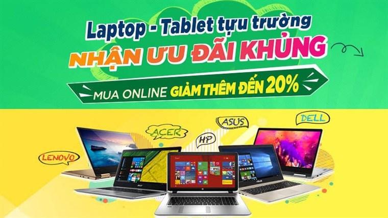 Mua laptop tại Trần Anh, săn học bổng giá trị lên đến 300 triệu