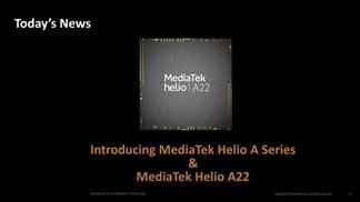 MediaTek Helio A22 ra mắt: Hỗ trợ AI, Bluetooth 5.0 & tiết kiệm pin