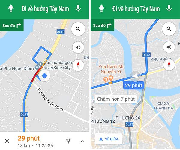 Google Maps điều hướng cho xe 2 bánh ở Việt Nam