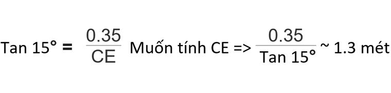 Ví dụ công thức tính