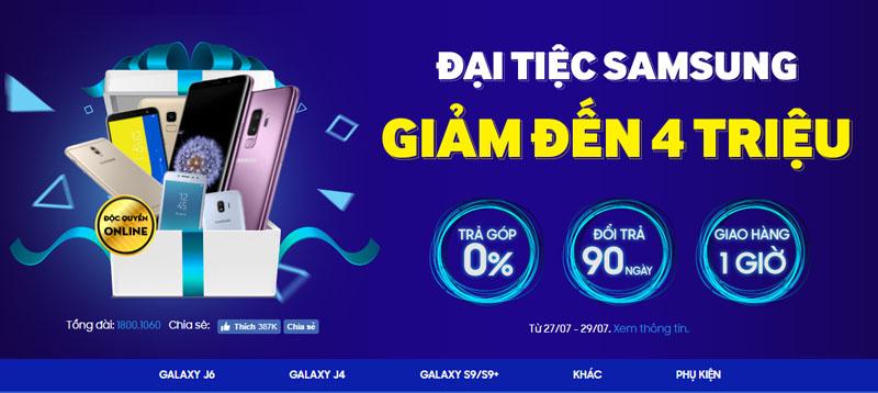 Đại tiệc Samsung cuối tuần, smartphone giảm đến 4 triệu đồng
