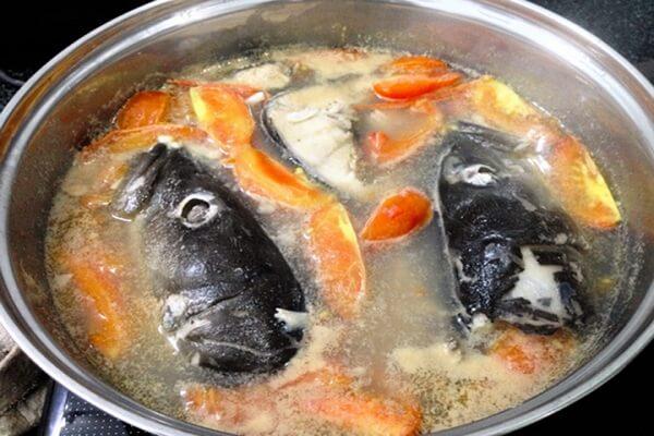 Bước 3 Nấu nước dùng Bún chả cá Nha Trang