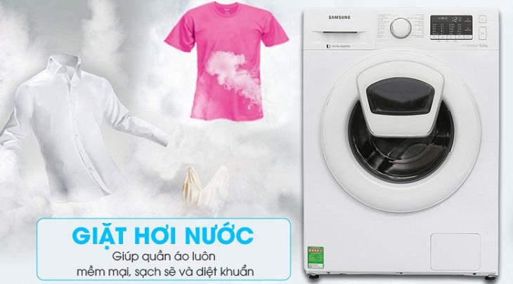 sử dụng chế độ giặt hơi nước để khử mùi thuốc lá