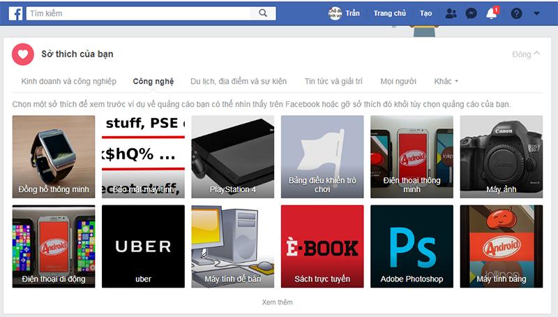 Vô hiệu hóa các quảng cáo trên ứng dụng Facebook 1