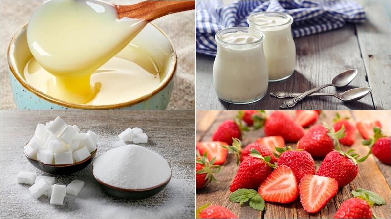 Nguyên liệu làm sữa chua trái cây