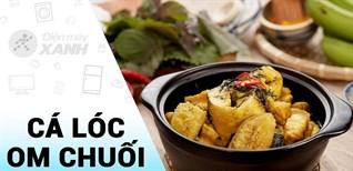 [Video] chi tiết cách làm cá lóc om chuối đậu đậm đà hương vị xứ Bắc