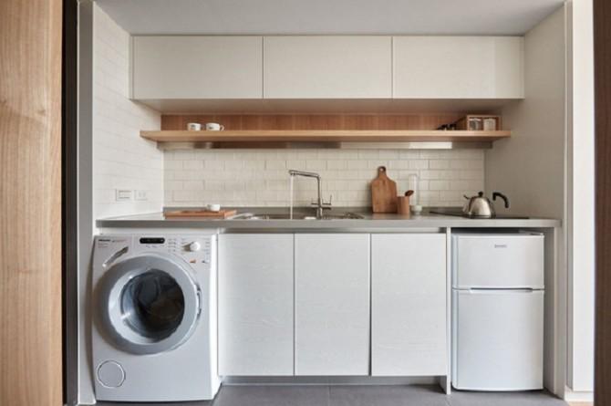 Có nên đặt máy giặt ở bếp không?
