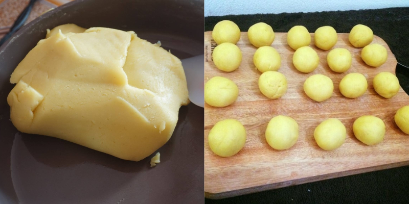 Nhân nhuyễn được làm từ các loại đậu, hạt sen hay khoai