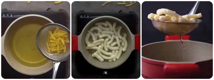 Cách làm nui chiên tỏi ớt giòn rụm cực ngon
