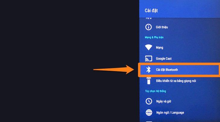 Cách kết nối loa bluetooth trên Android tivi Sony 2018 đơn