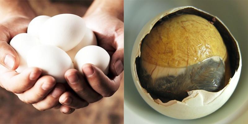 Mẹ nên cho trứng vịt lộn vào bữa ăn chính hoặc bữa ăn nhẹ vào giữa buổi sáng.