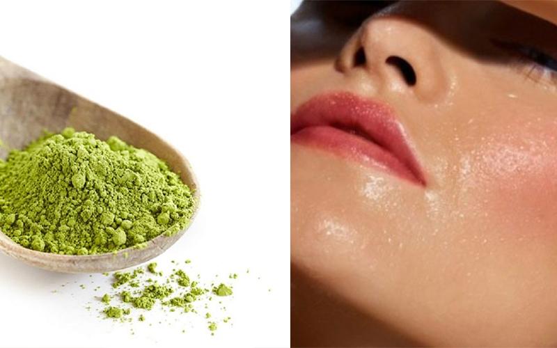 trà xanh và sữa tươi không đường giúp dưỡng ẩm làn da, làm sạch bụi bẩn, ngăn ngừa mụn và kháng khuẩn