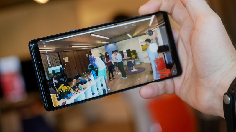 Giao diện camera điện thoại Samsung Galaxy Note 9