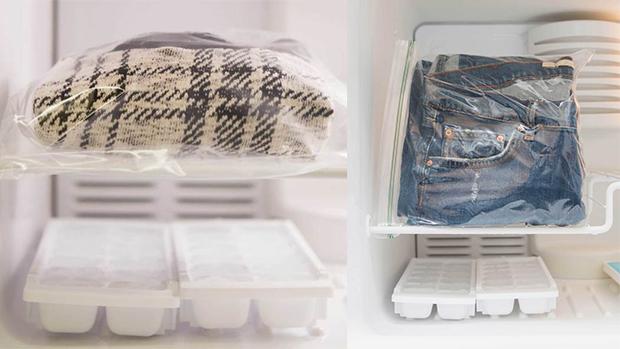 Cho quần áo vào tủ lạnh