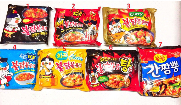 Các loại mì cay Samyang Hàn Quốc hot nhất hiện nay