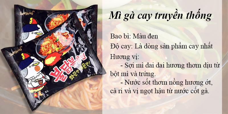 Mì gà cay Samyang truyền thống độ cay nồng thách thức người dùng