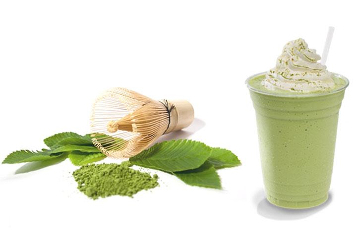 Nguyên liệu làm Matcha trà xanh đá xay
