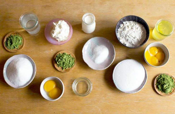 Nguyên liệu làm bánh mousse matcha trà xanh